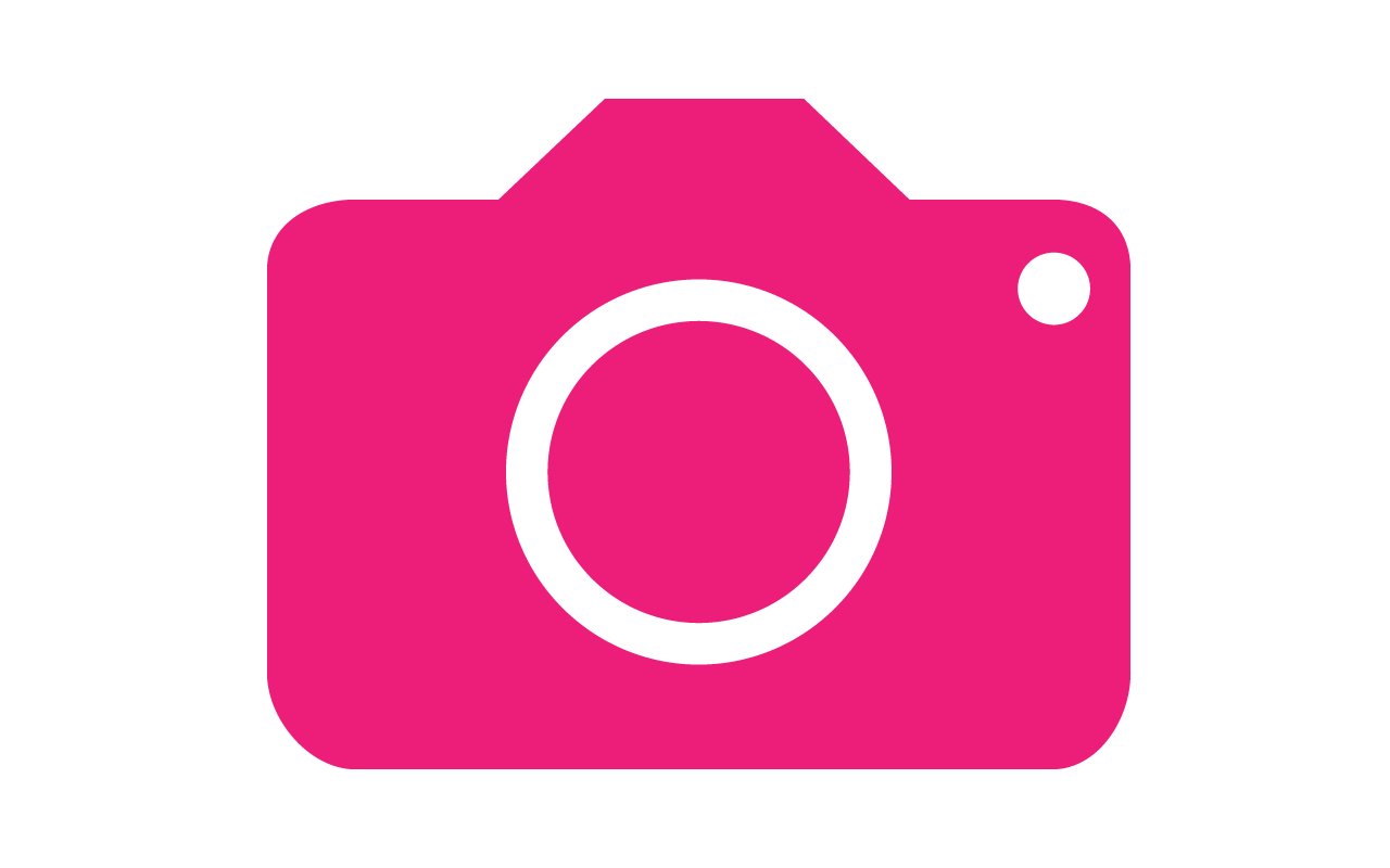logo de photographe en rose