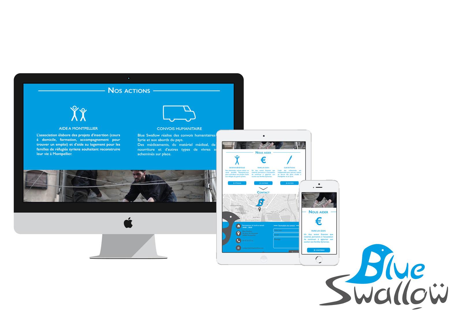 webdesign et création de logo pour Blue Swallow