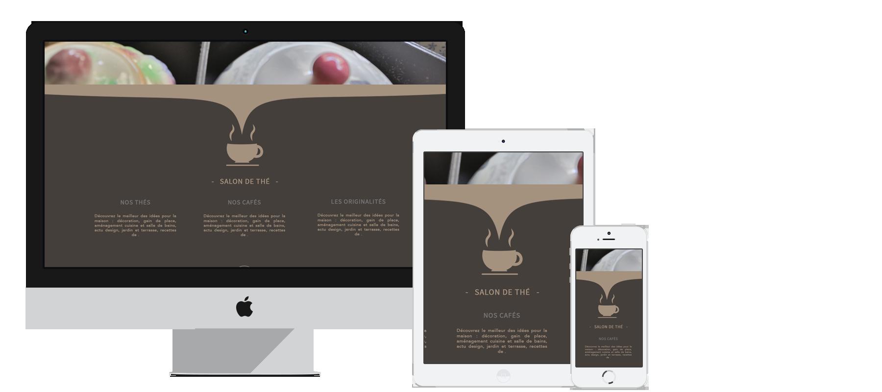 webdesign du site internet de la boutique de décoration L'Effet Rêve