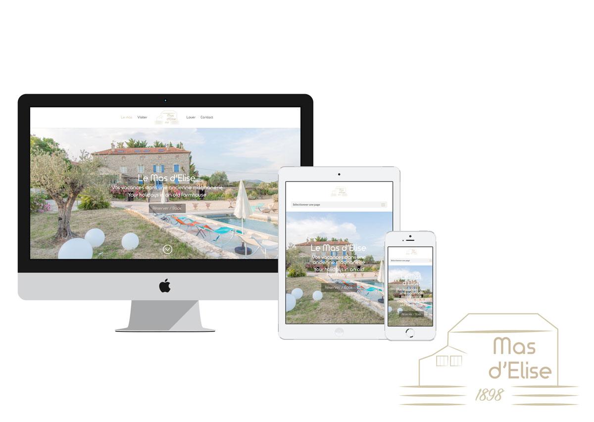 webdesign pour le mas d'élise