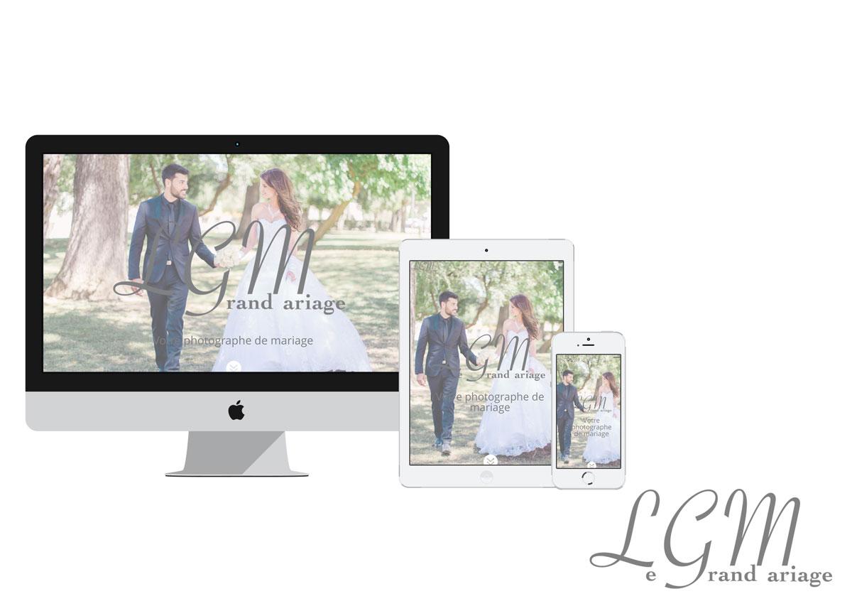 site conçu pour lgm-mariage, photographe de mariage dans l'Hérault et le Gard