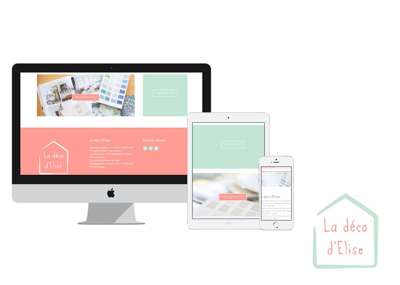 Site web de La déco d'Elise, décoratrice d'intérieur